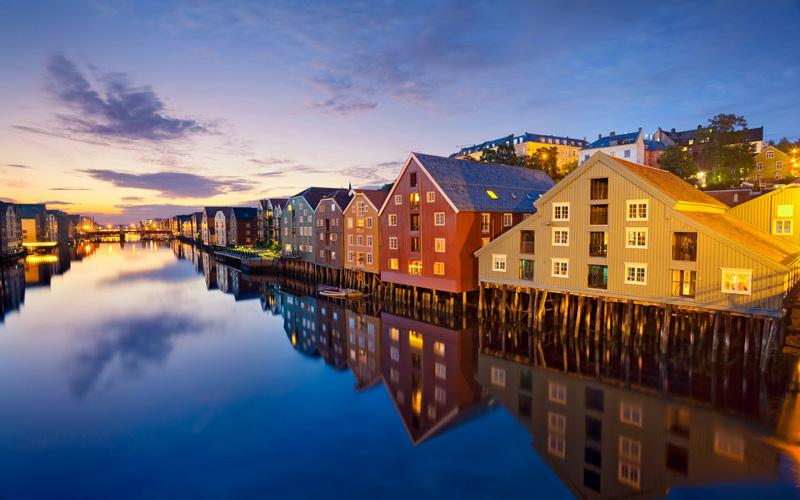 Trondheim-Norvec