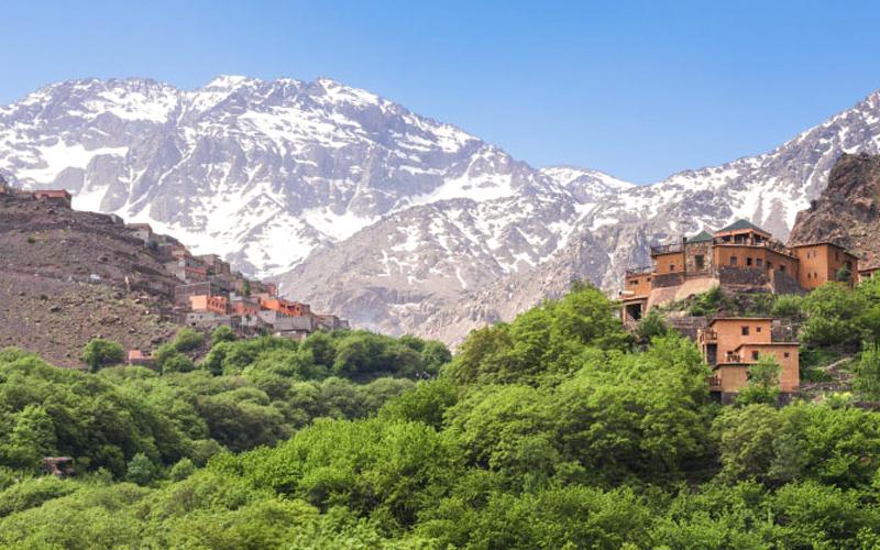 Atlas Dağları Marakeş Fas