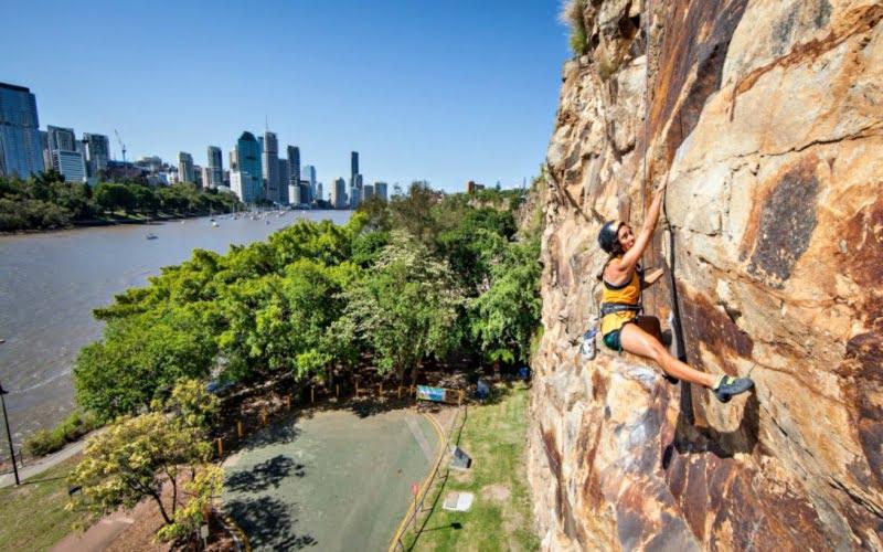 Kangoroo Point Kayalıkları Brisbane
